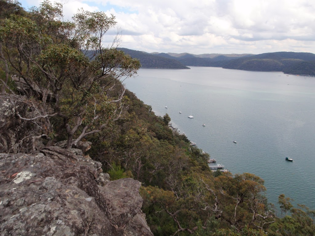 Looking along Tumblecowii,  Little Wobby, and the Hawkesbury River