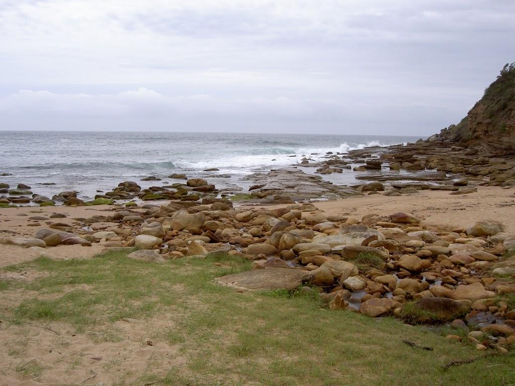 Little Beach's rocky shore