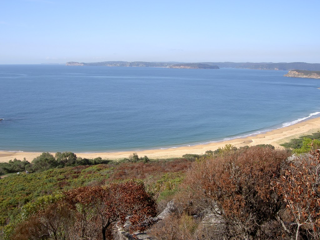 Putty Beach across Broken Bay to Barrenjoey Headland (21686)