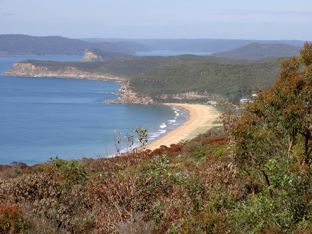Putty Beach in the foreground with Broken Bay in the background