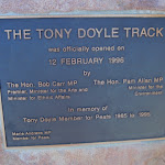 Plaque about the Tony Doyle Track (217820)
