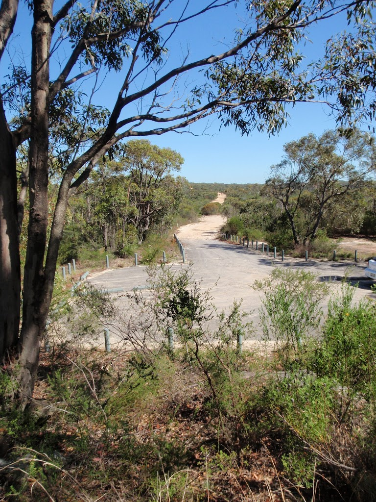 Carpark and road just north of Warrah Trig Station