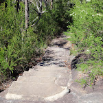 Sandstone steps on path (218030)
