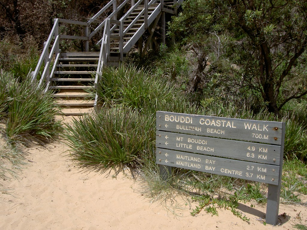 Staircase off eastern side of Putty Beach