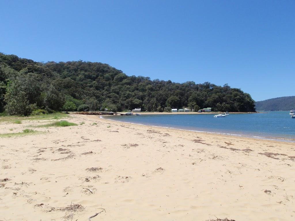 Walking along Patonga Beach