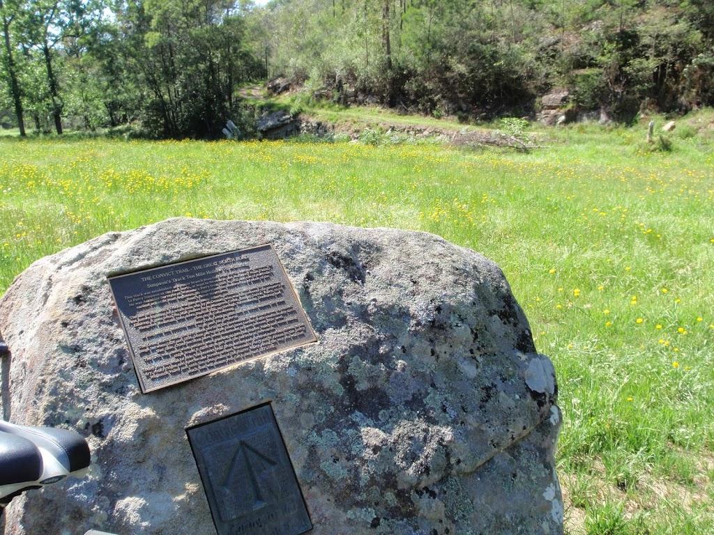 Plaque about the Convict trails