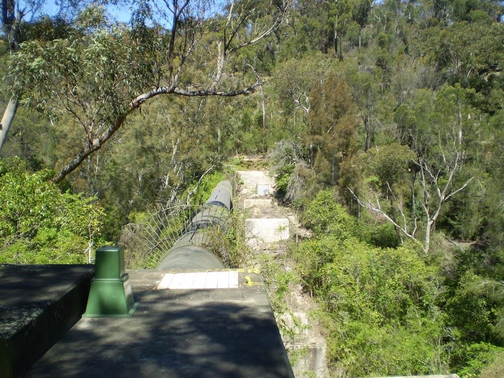 The Gordon Creek pipe bridge