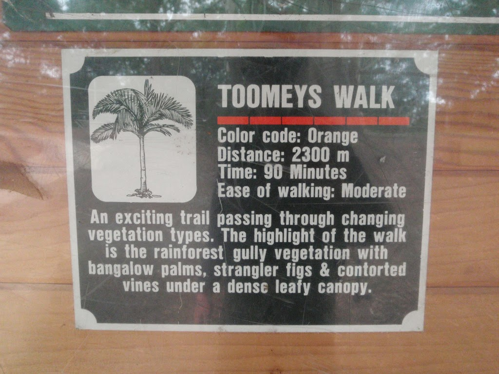 Sign about Toomeys walk
