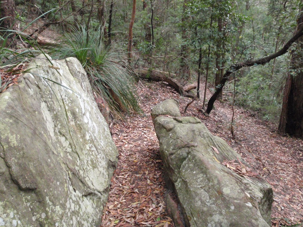 Walking through the cleft in the rock