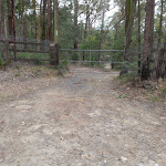 Private gate on Toomeys Rd Trail