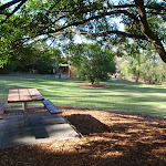 Picnic table in shade at Honeman's Picnic Area (233139)