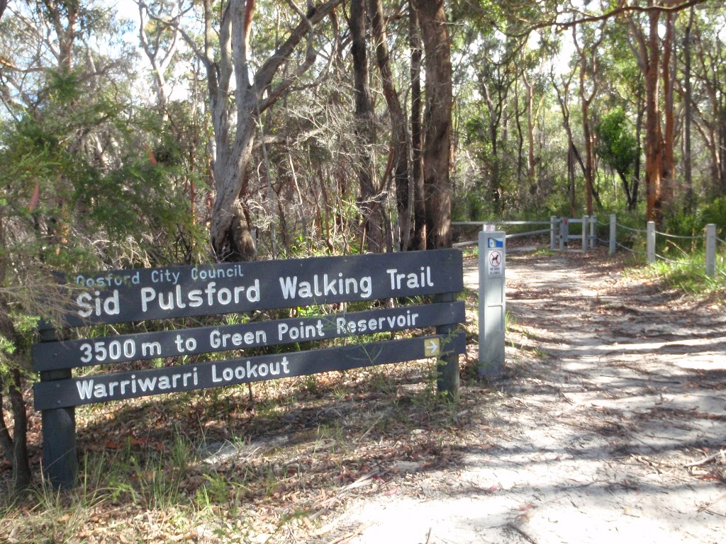Sid Pulsford Walking trail sign