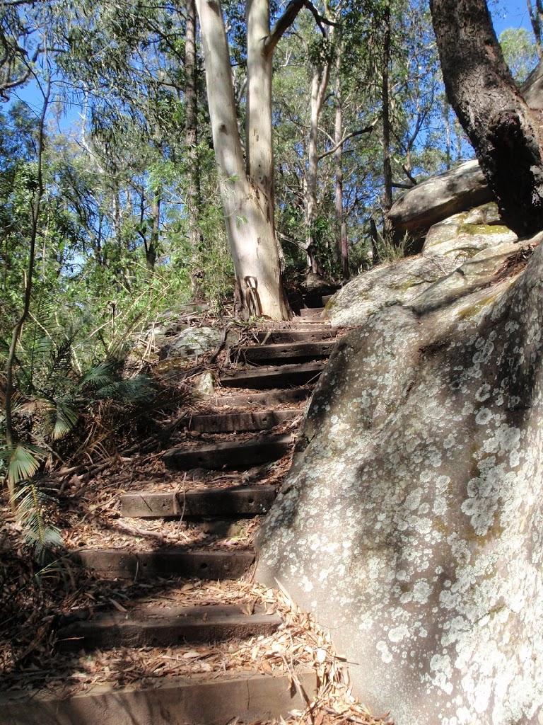 Interesting rock boulders beside track
