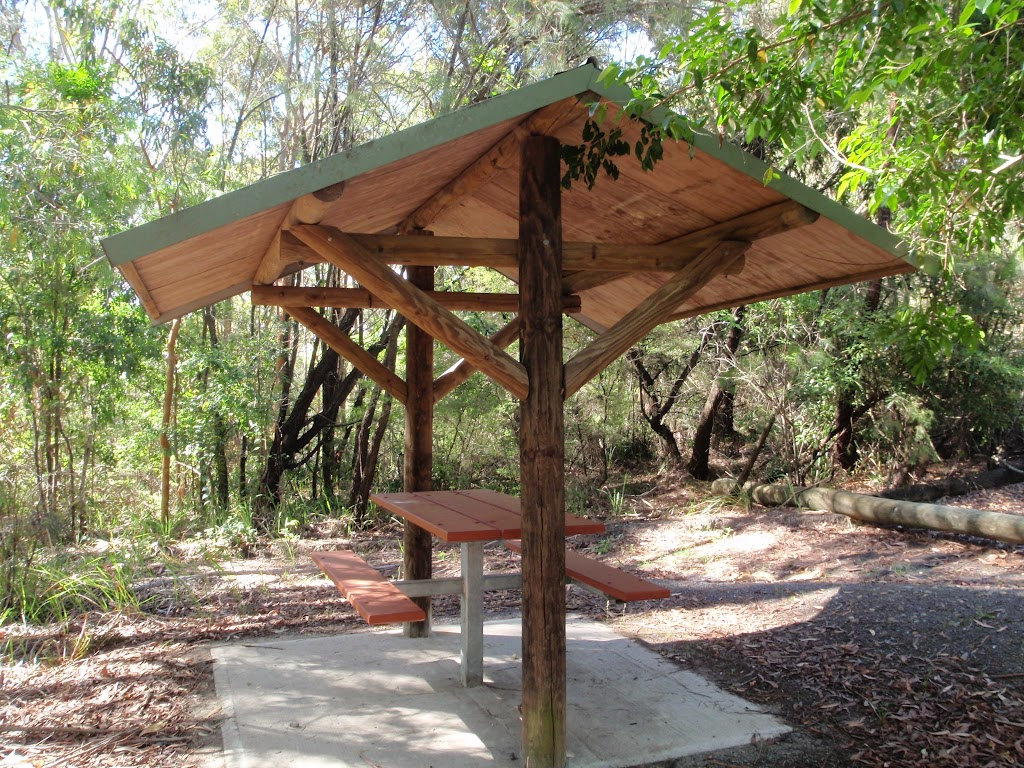 Picnic shelter in overflow car park