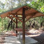Picnic shelter in overflow car park