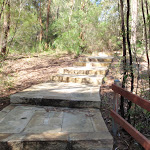 Steps between main picnic area and the overflow car park