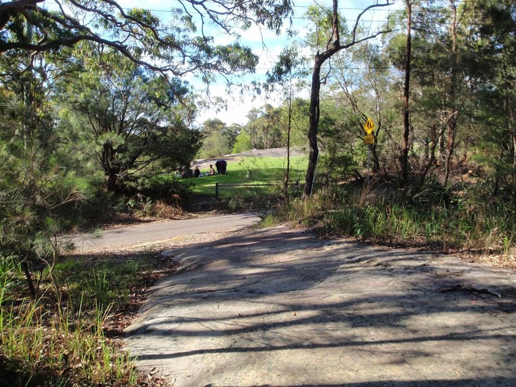 Rock platform at the start of split rock trail