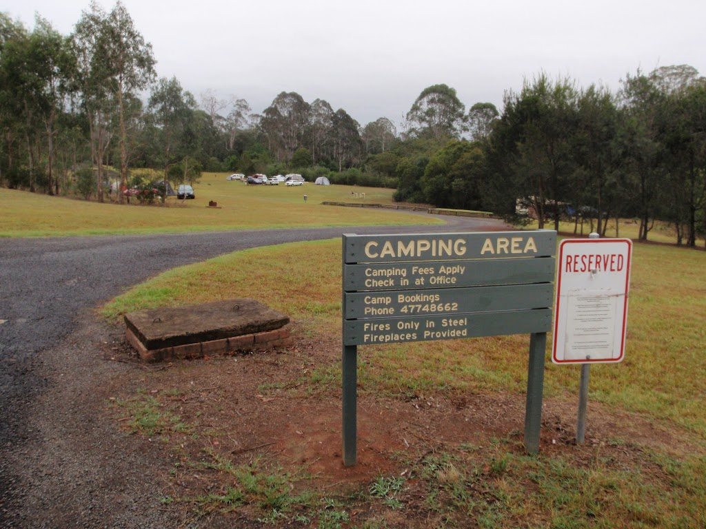 Entering the camping area
