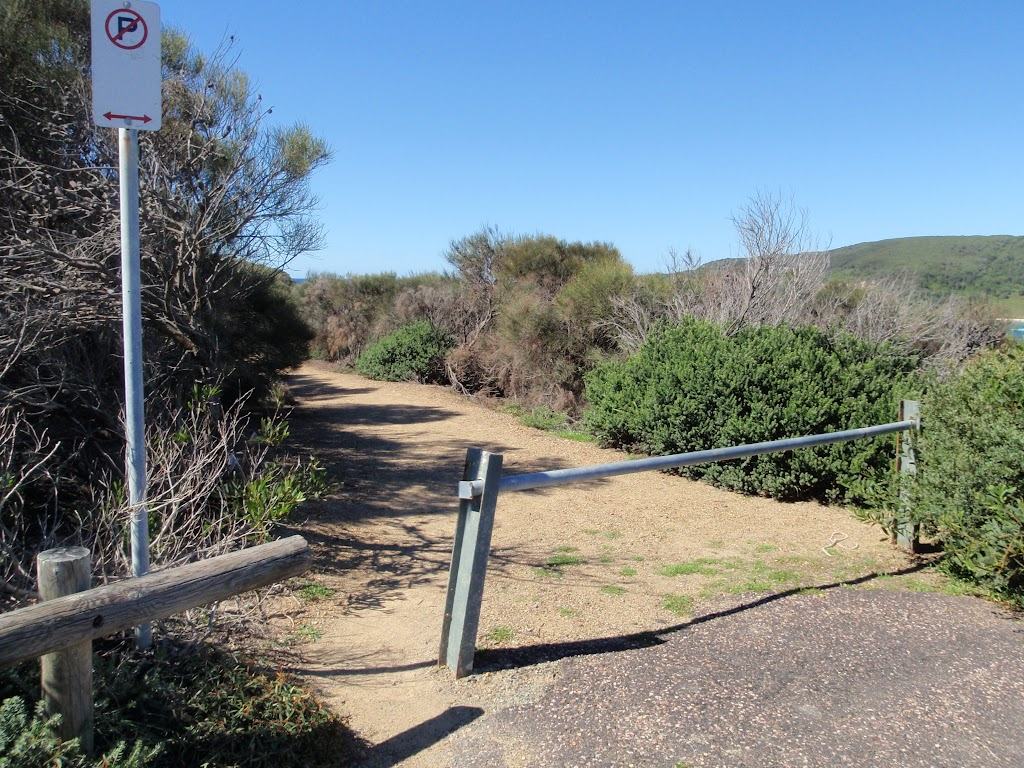 Gate at the end of Snapper Point Rd