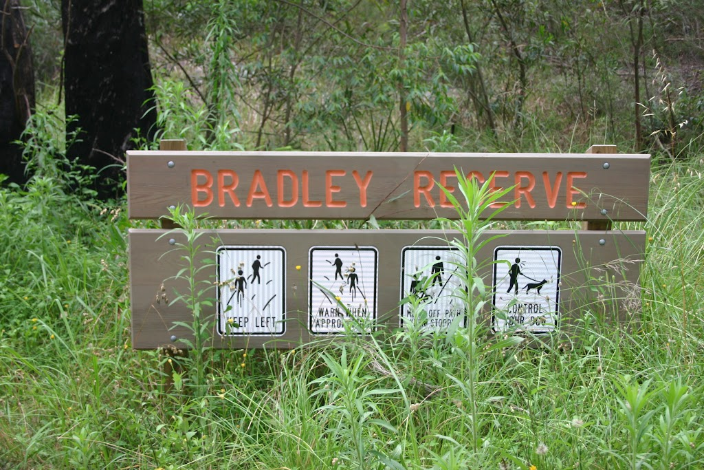 Bradley Reserve sign