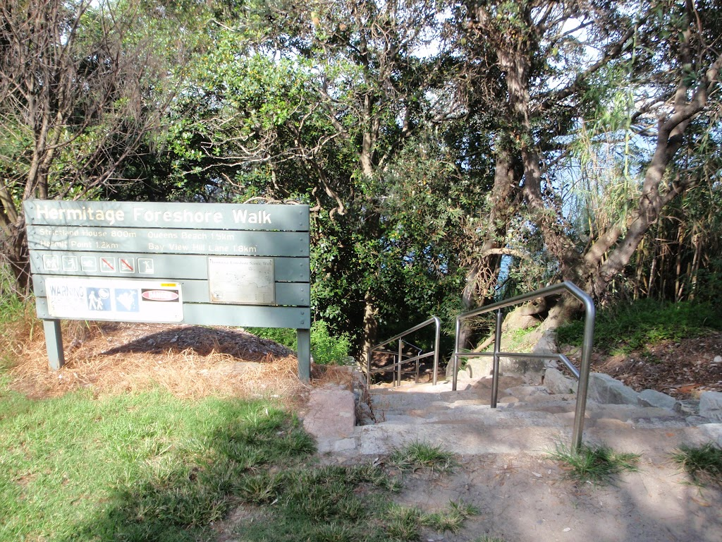 New steps at the northern end of Hermitage Foreshore Walk
