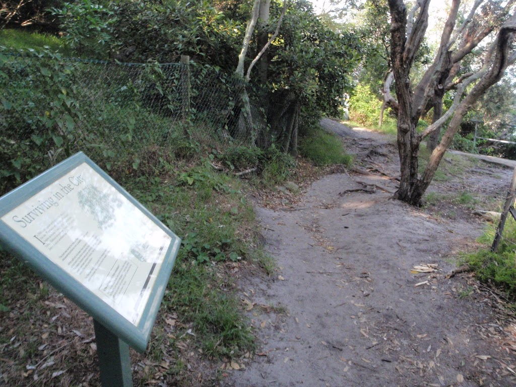 Information sign on the Hermitage Foreshore Walk