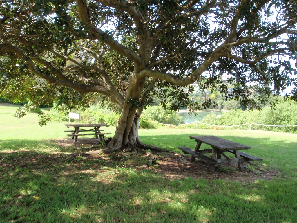 Picnic area behind Strickland House