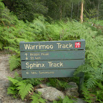 Warrimoo Track signpost