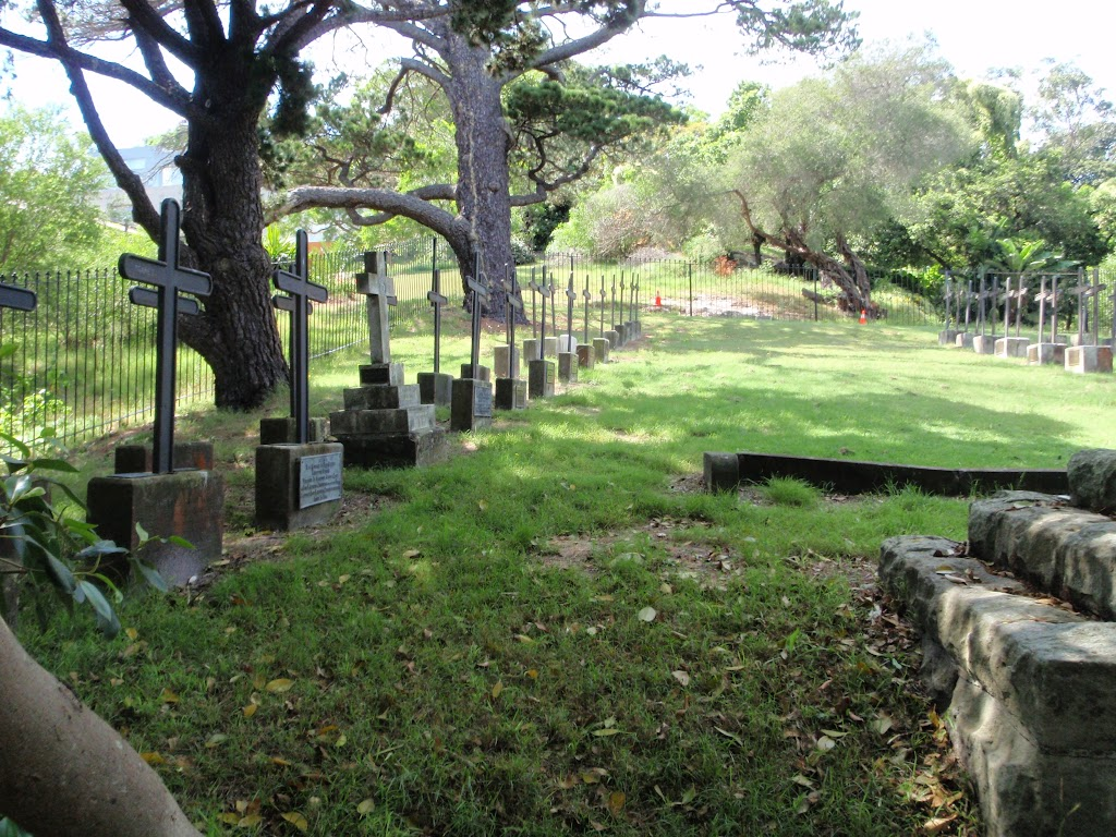View though fence to cemetery