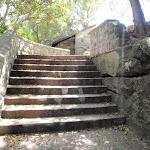 Steps below Shakespheres Point