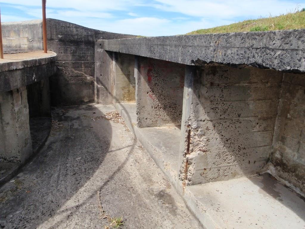 Inside a gun emplacement