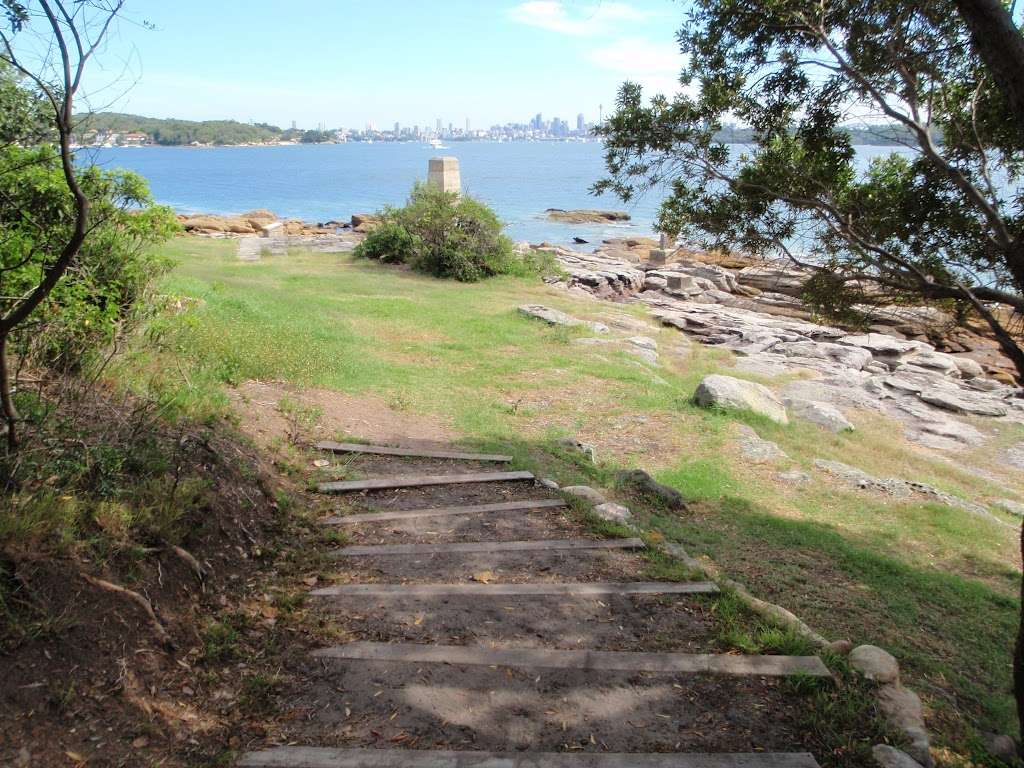 Steps leading down to Greens (aka Laings) Point