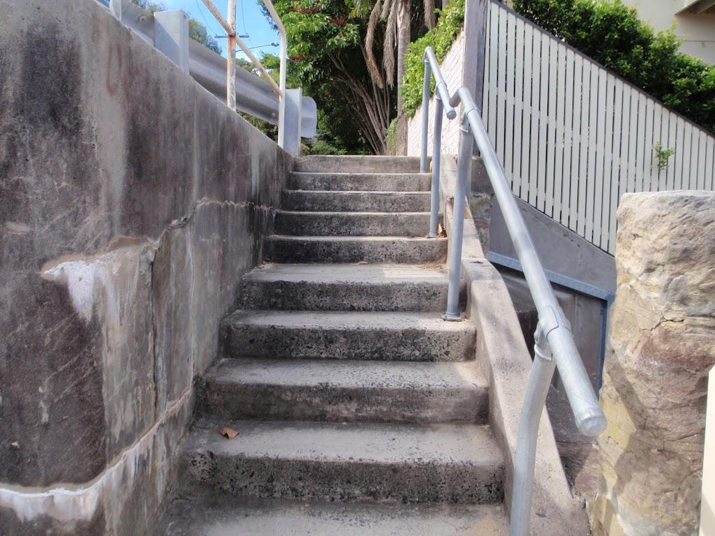 Steps just below Short St