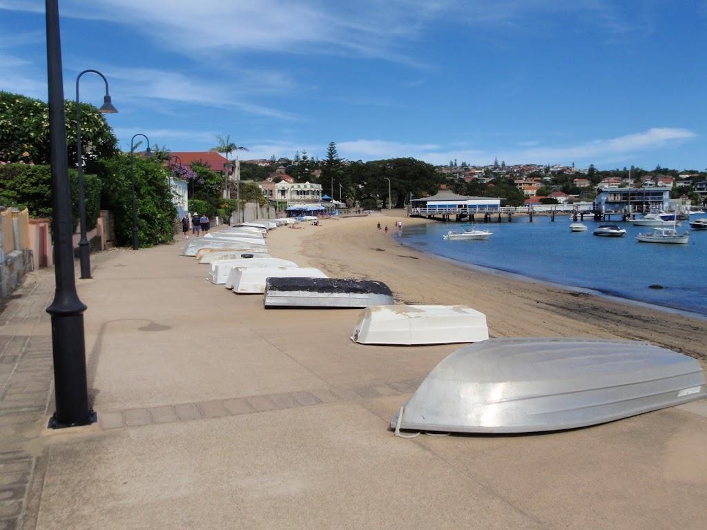 Boats beside path in Watsons Bay