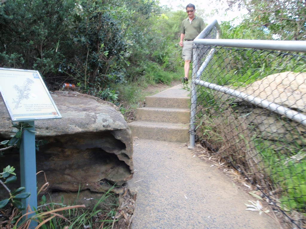 Steps leading up to The Gap Bluff