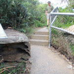 Steps leading up to The Gap Bluff (256598)
