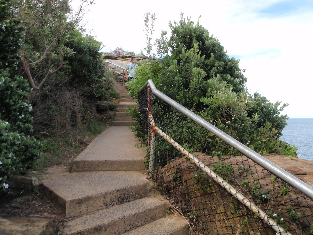 Steps leading up the The Gap Bluff