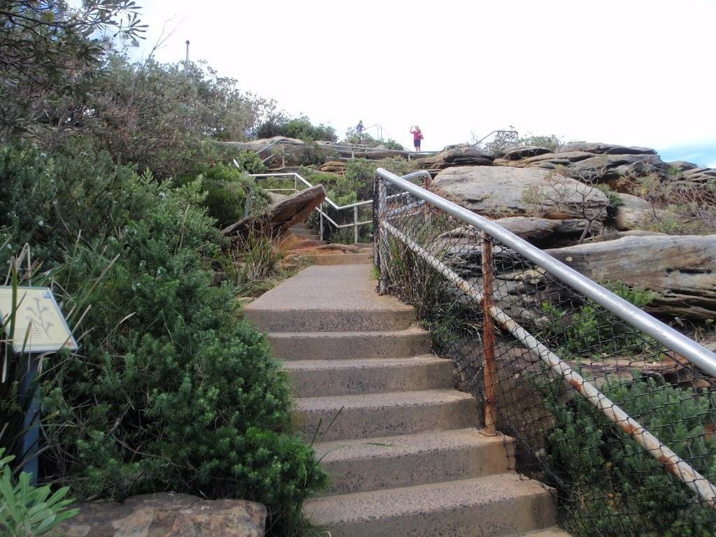 Steps below The Gap Bluff