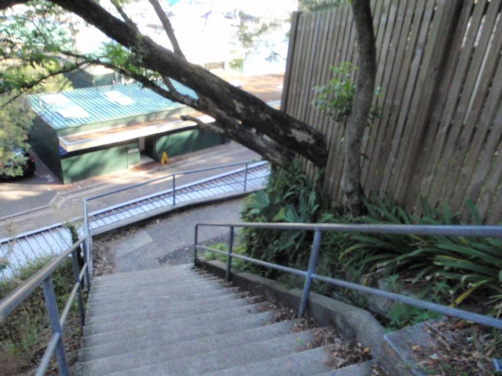 Steps looking down to Mosman Wharf