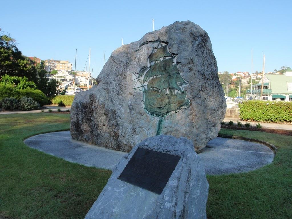 Monument near Mosman Wharf