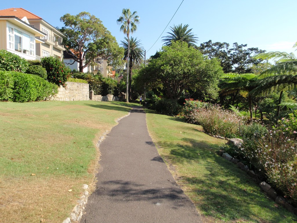 Path leading though the Cremorne Reserve with the house on the left
