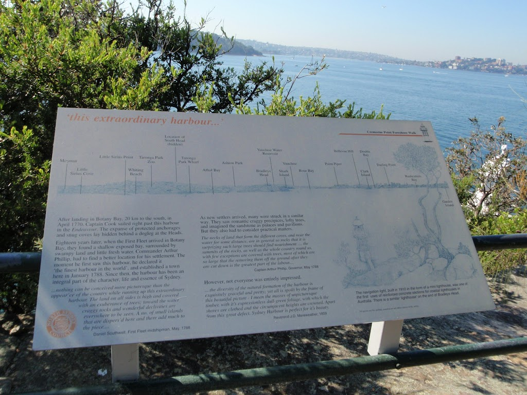 Information sign at Robertsons Point