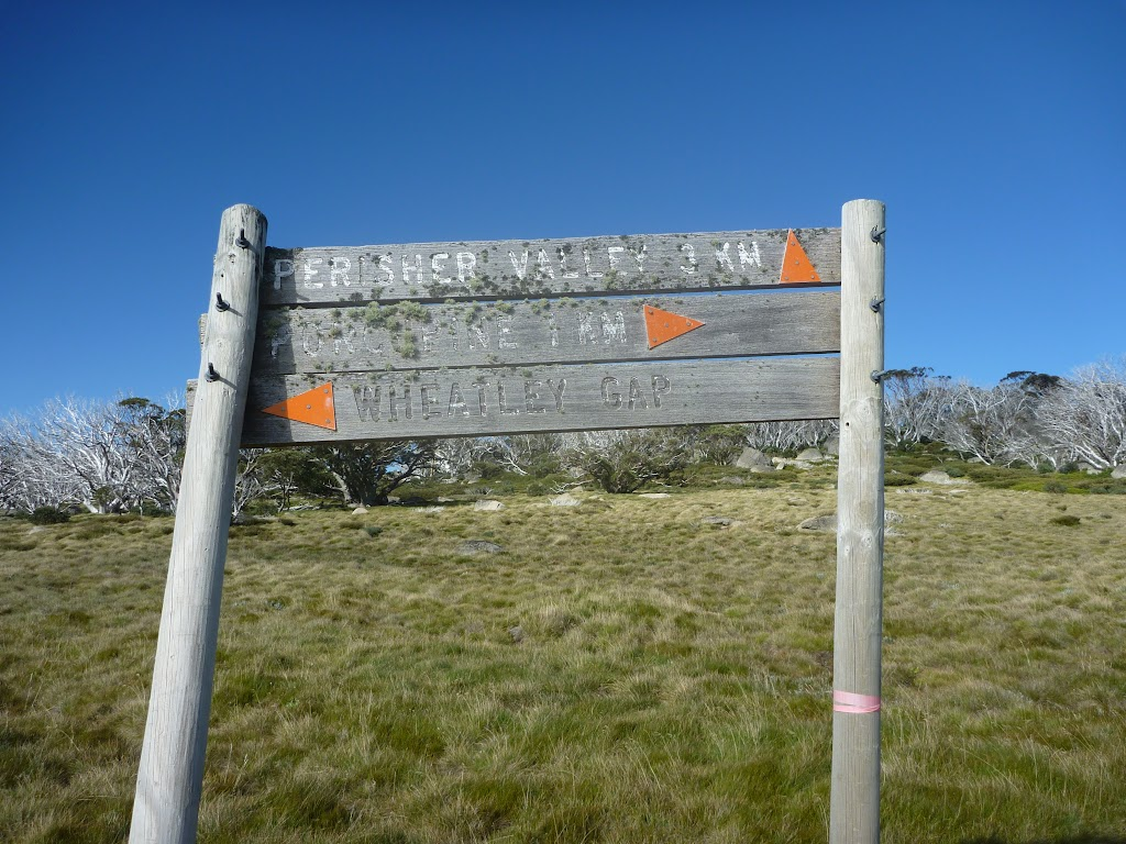 The older signpost at Int of Porcupine Trail and Wheatley Link Track
