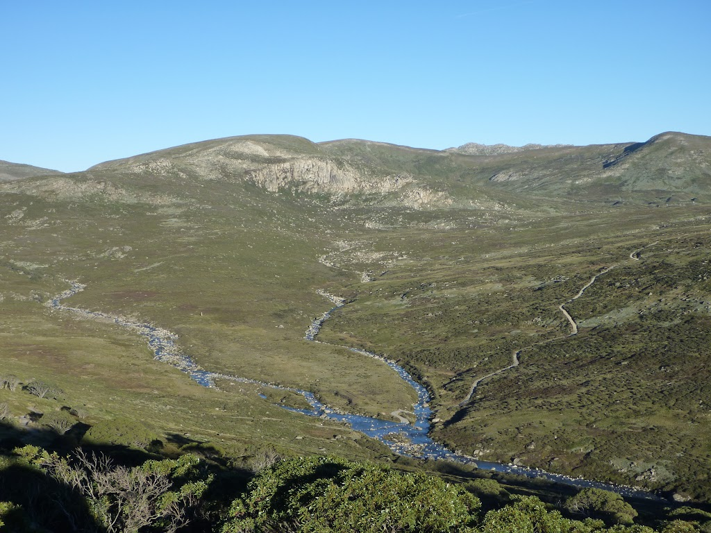 Confluence of the Snowy River and Club Lake Creek from the Main Range Lookout