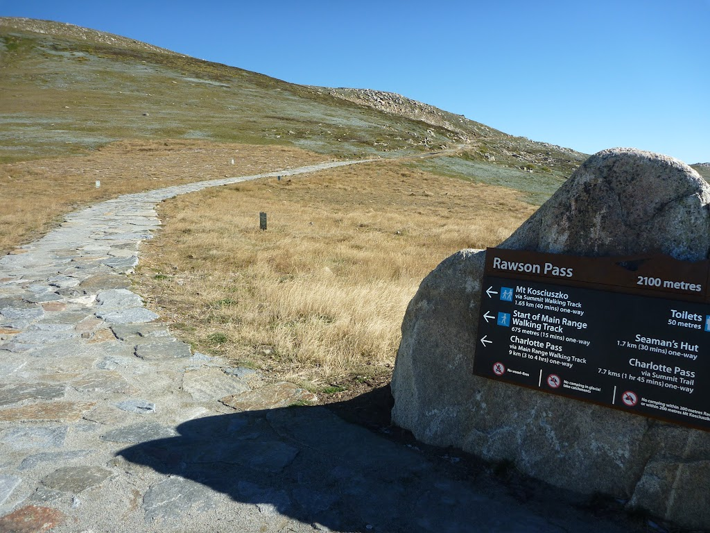 Rawson Pass Looking towads Mt Kosciuszko