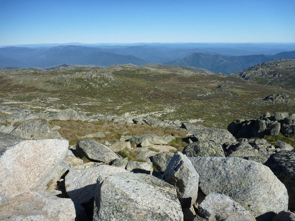 Looking over Wilkinsons Creek from near the summit of Mt Kosciuszko (266231)