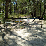 Gate at the end of Warrimoo Ave