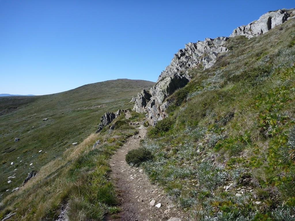Narrow track above Albina Lake