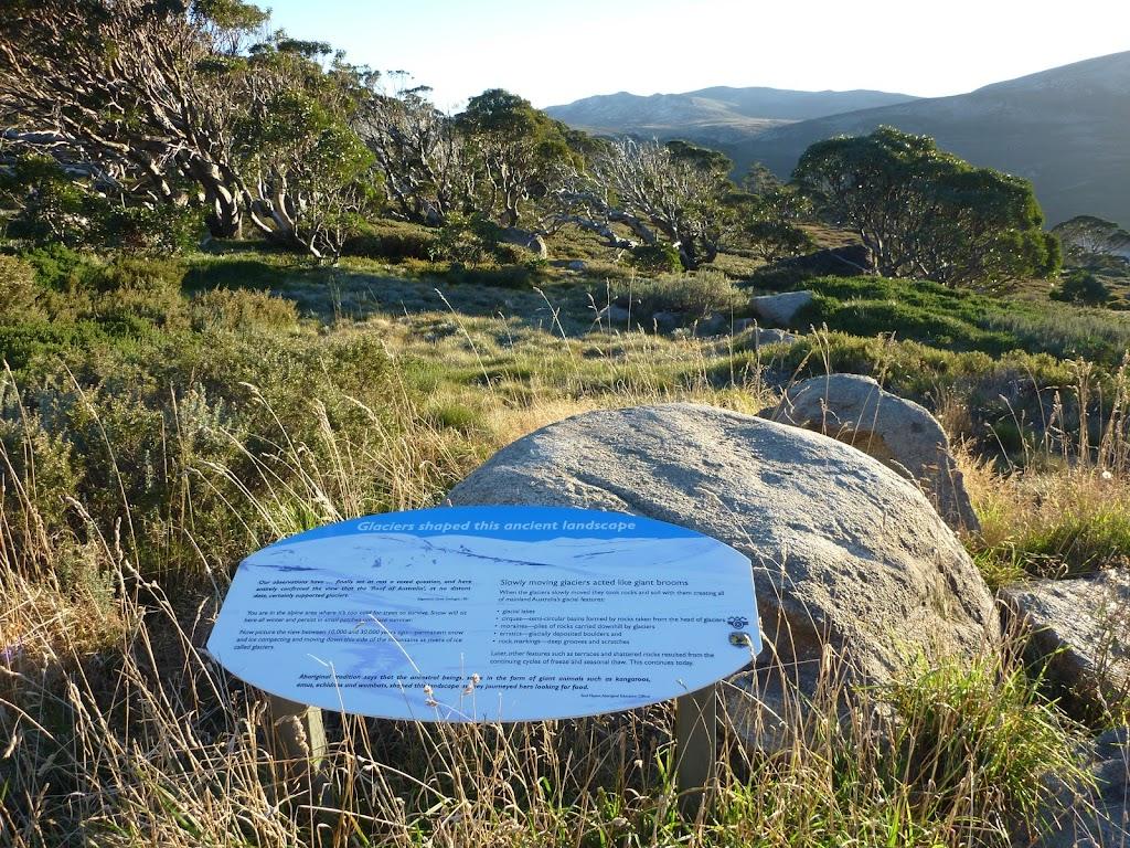 Information signs on Main Range Track