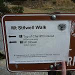 Mt Stilwell Walk sign (270377)